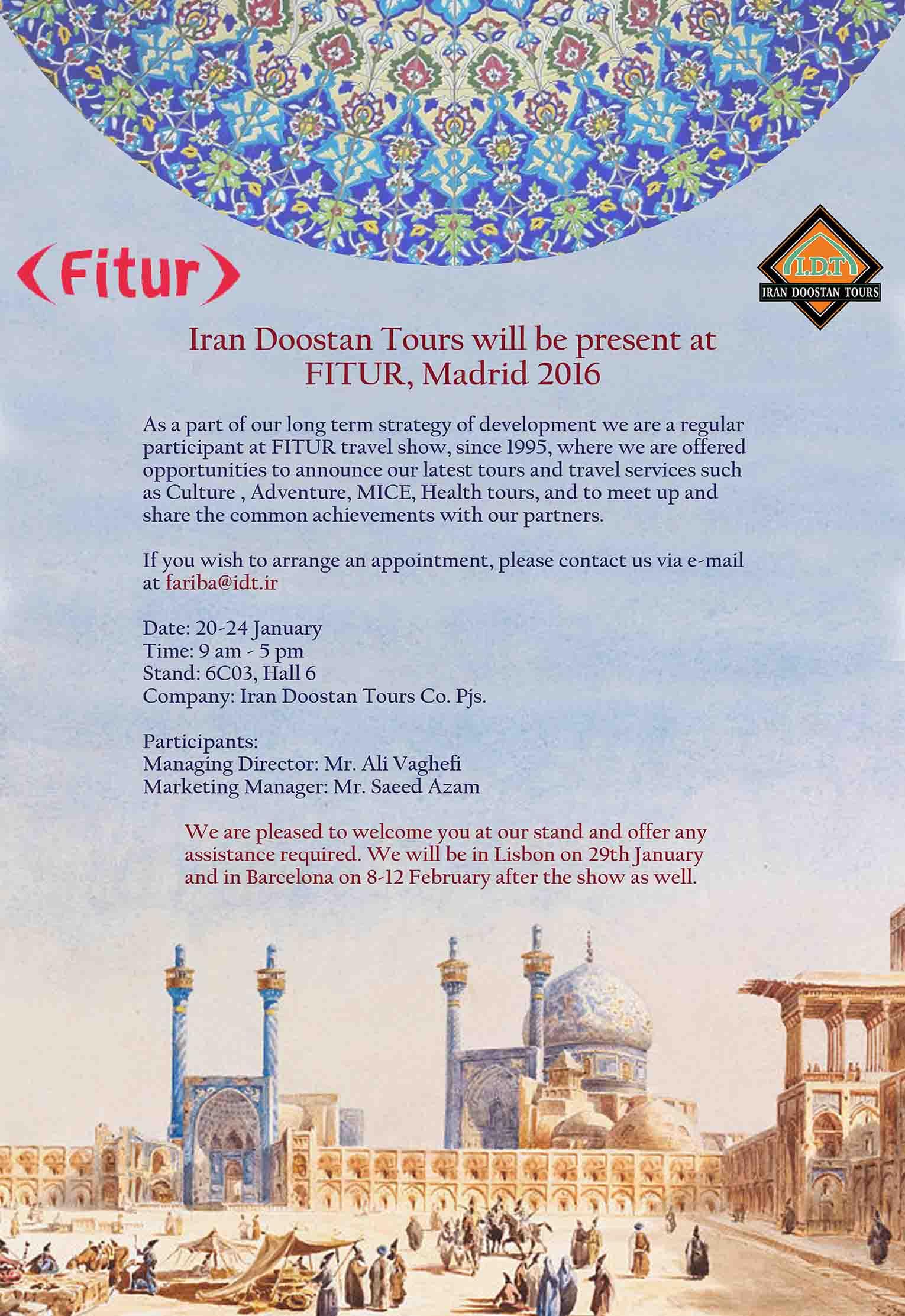 Tours to Iran-FITUR 2016
