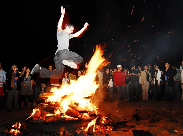 Iranian Fire Jumping Festival Chaharshanbe Soori