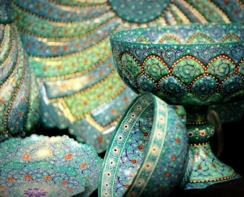 Minakari or Enameling, the glorious Iranian handicraft