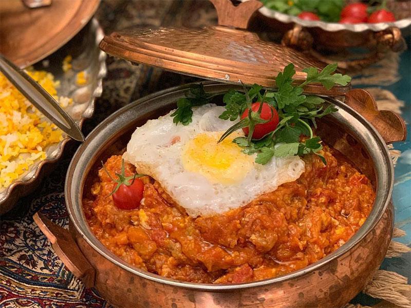 Iranian foods - Mirza Ghasemi