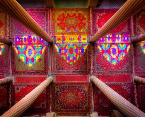 Nasir al-Mulk Mosque in Shiraz, the pink combination of art and architecture