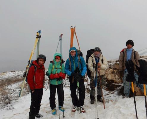 ski tour in Iran