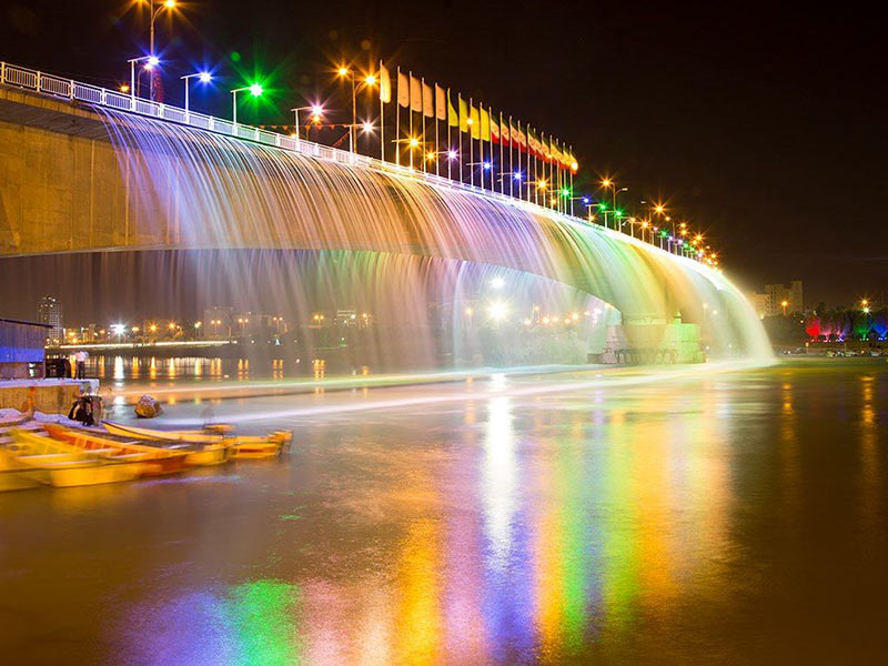 Seventh Bridge Waterfall in Ahvaz
