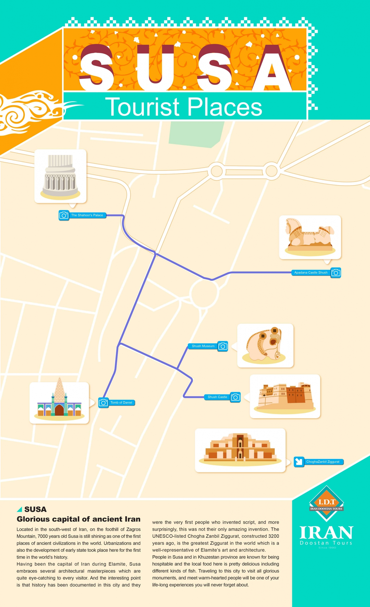 Susa attractions Infographic